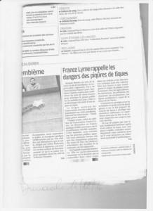 art(icle de la Provence sur la maladie de Lyme  14.02.2016