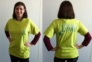 Tee-shirts de soutien pour France Lyme