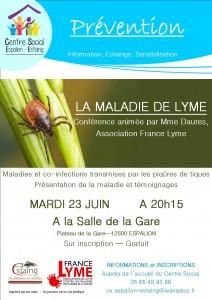 Conférence Maladie de Lyme 23 juin espalion