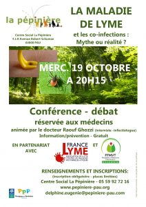 Affiche conférence Lyme oct